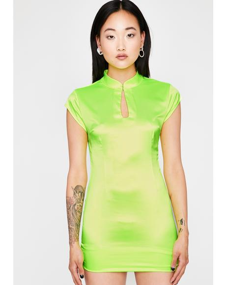 Toxic Fashionably Late Satin Dress