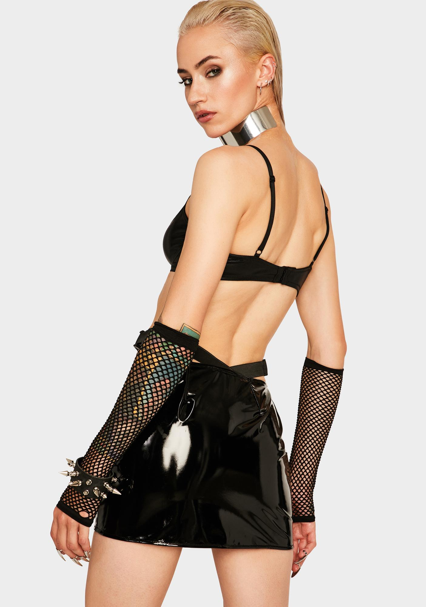 Tiar PVC Thong Mini Skirt
