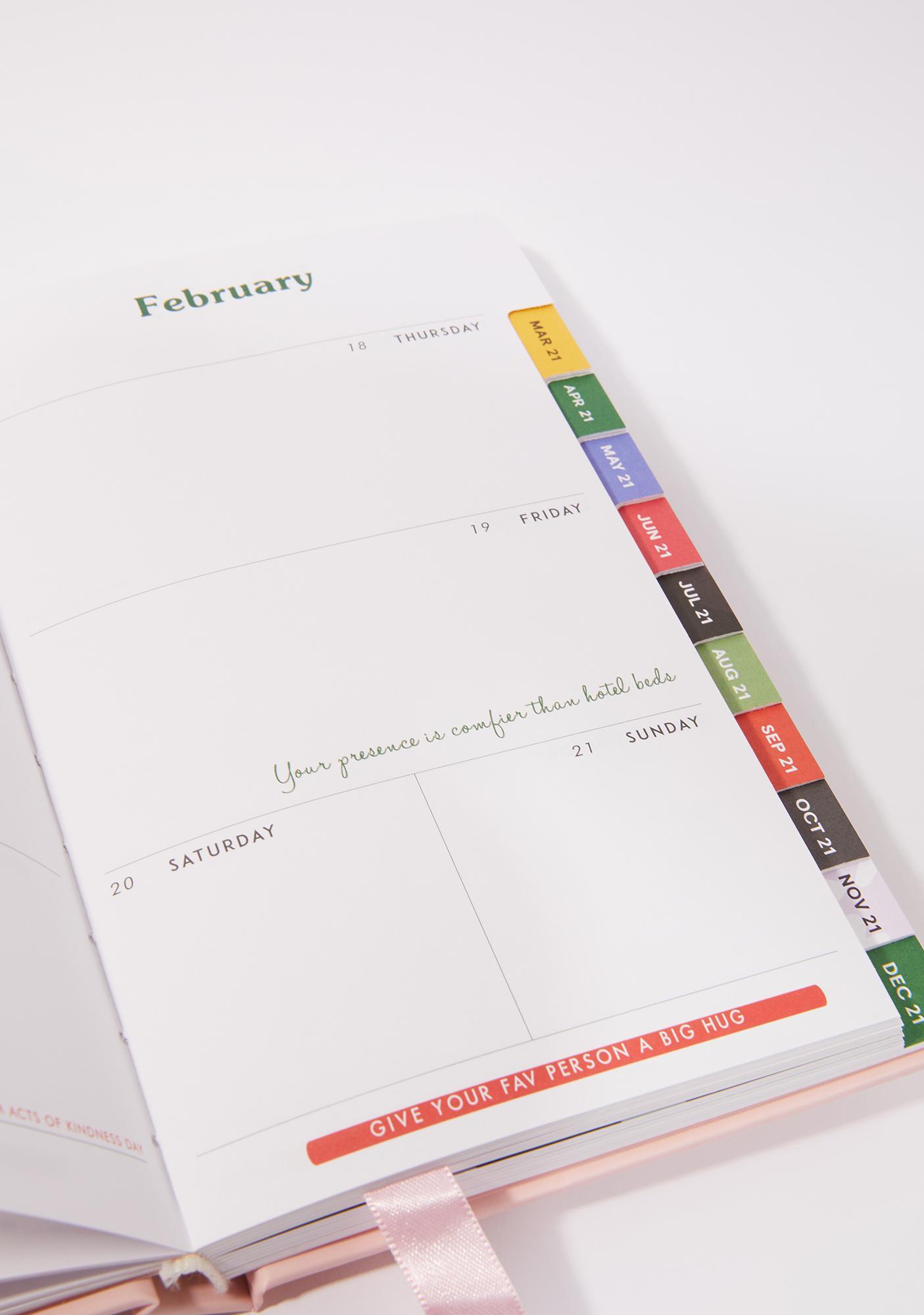 ODD GIRAFFE Work Work Work 2021 12 Month Planner