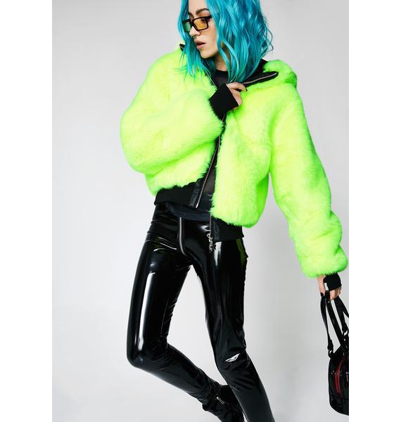 Club Exx Nightcall Neon Bomber Jacket
