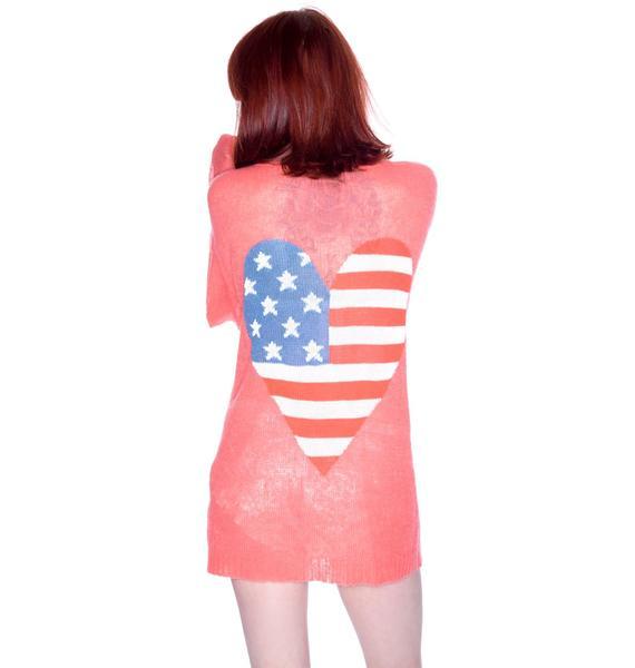 Wildfox Couture American Heart Manhattan Cardigan