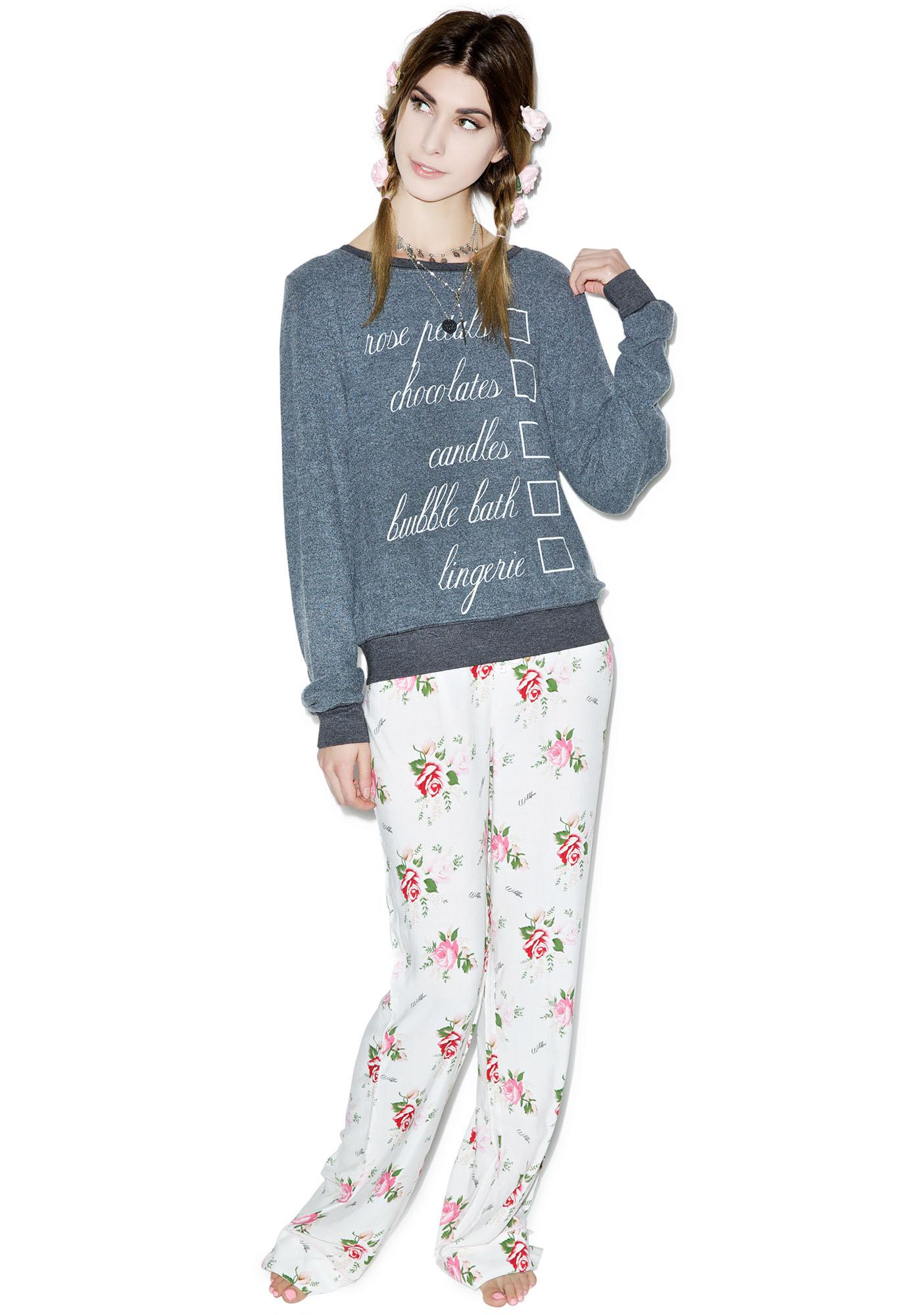 Wildfox Couture Hot Date Baggy Beach Jumper