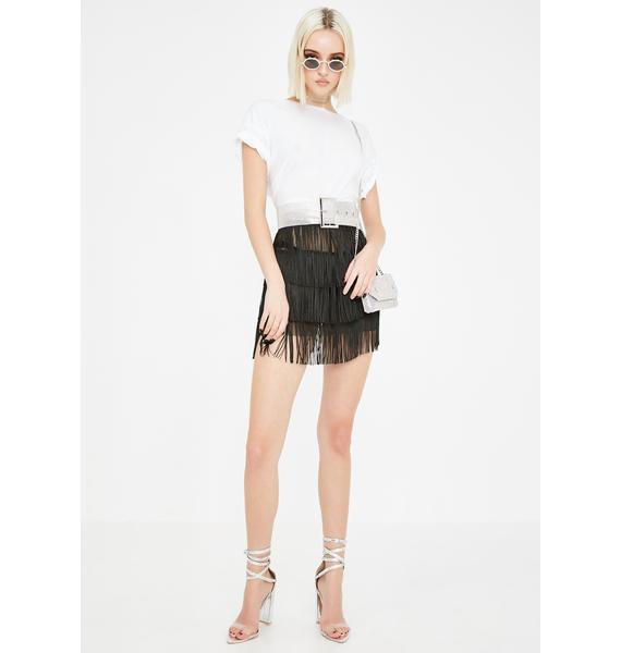 Kiki Riki Overnight Affair Fringe Skirt