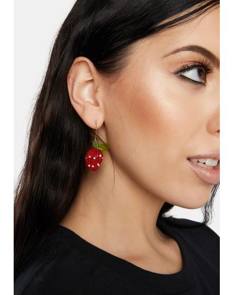 Lips Like Sugar Strawberry Earrings