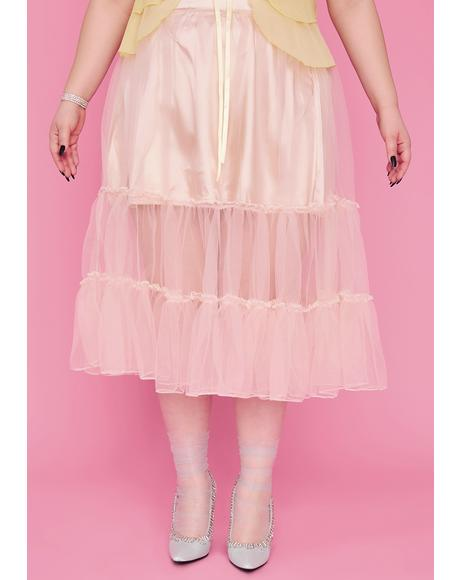 So Tutu For Now Tulle Midi Skirt