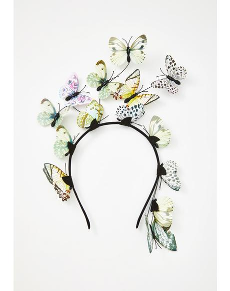 Angel Lost In Dreams Butterfly Headband