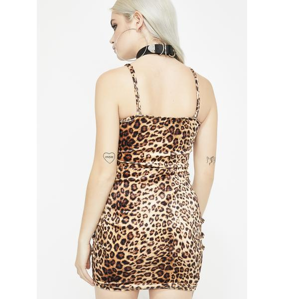 Purrrty Kitty Leopard Dress