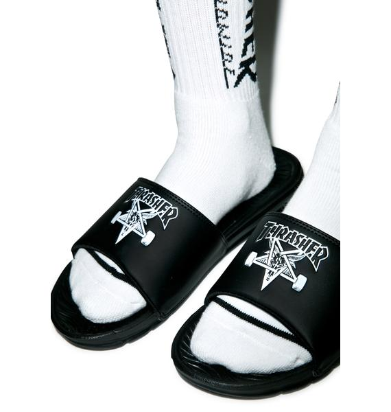 HUF X Thrasher Slide Sandals