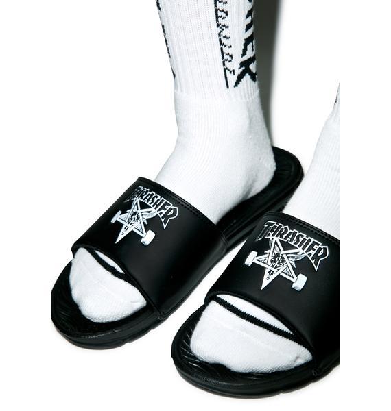HUF X Thrasher Slide Sandals