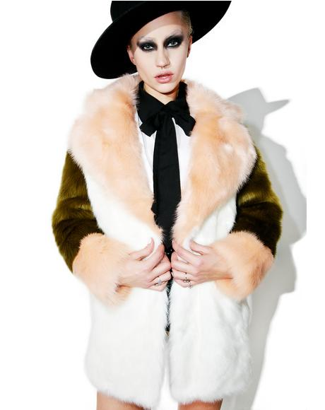 Kari Fuzzy Faux Fur Coat