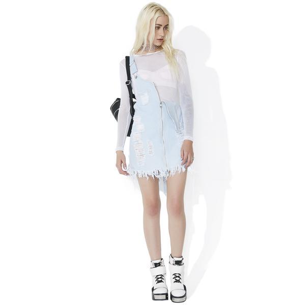 Wild Side Lace-Up Denim Dress