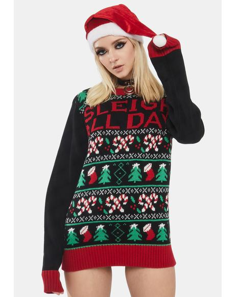 Sleigh All Day Holiday Sweater