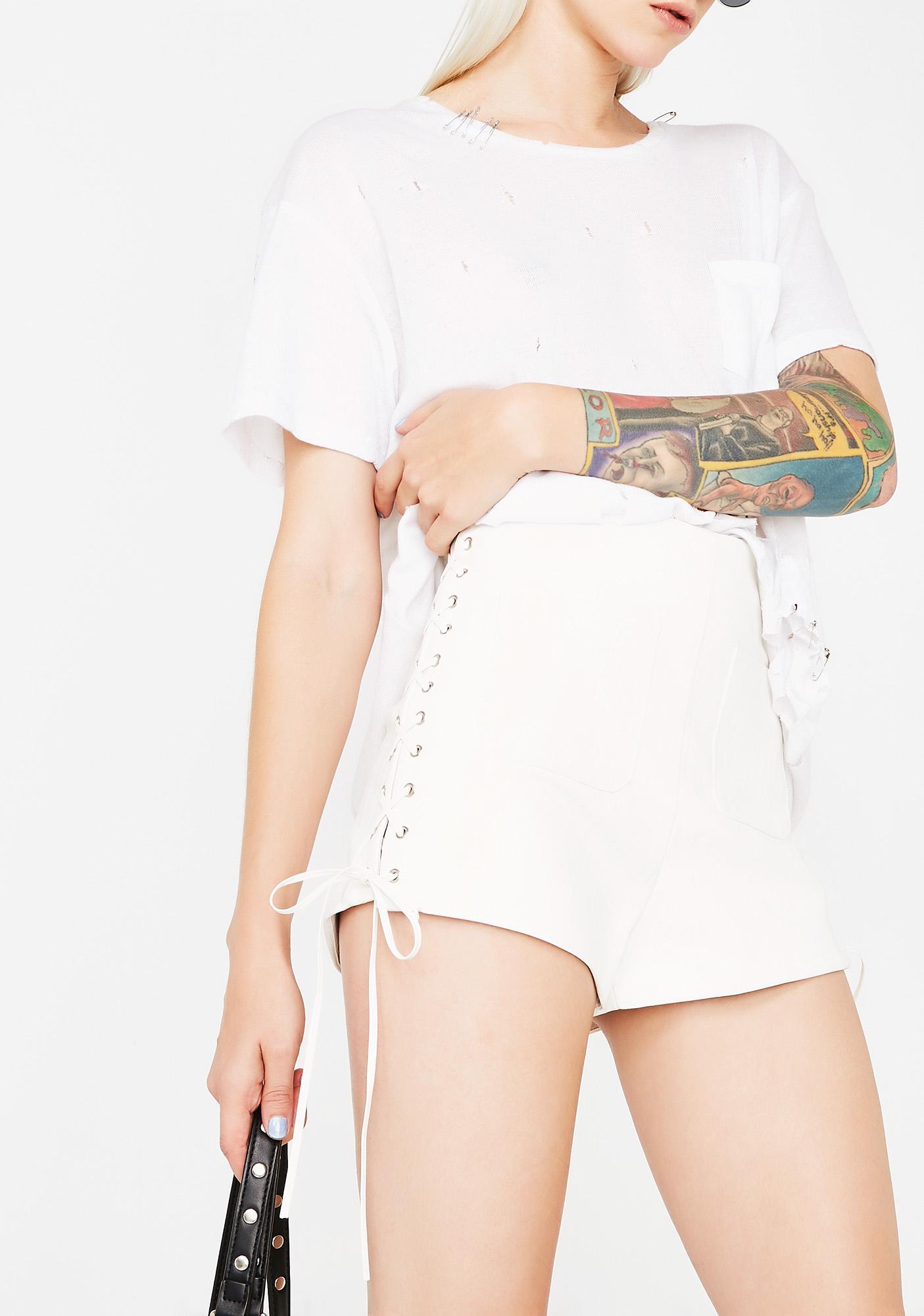 Skrt Skrt Lace-Up Shorts