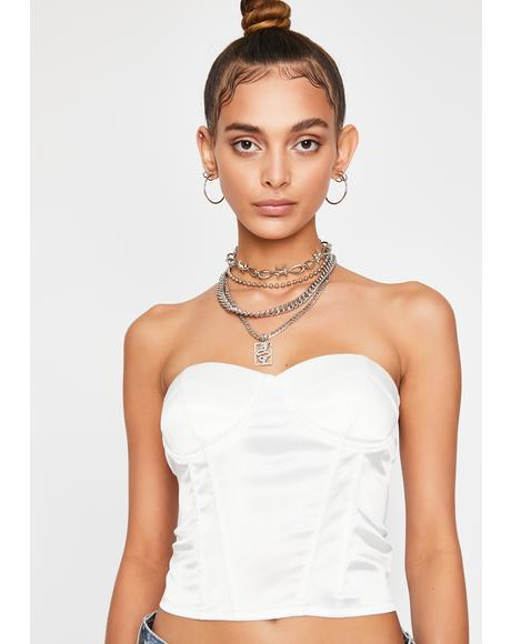 Icy She's No Angel Corset Top