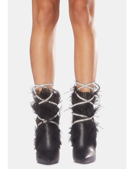 Hawk Feather Stiletto Booties