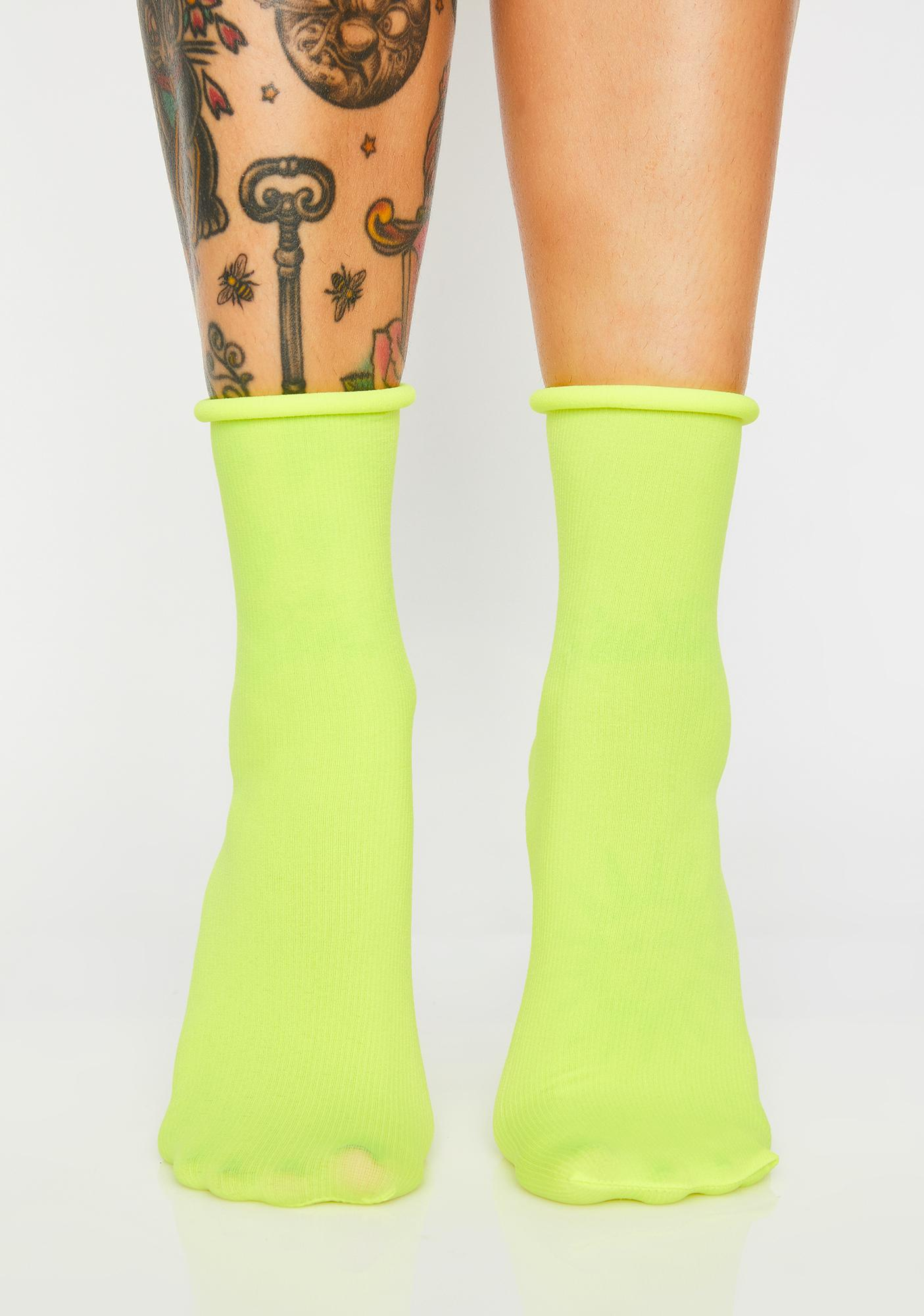 Bodak Shock Spectrum Neon Socks