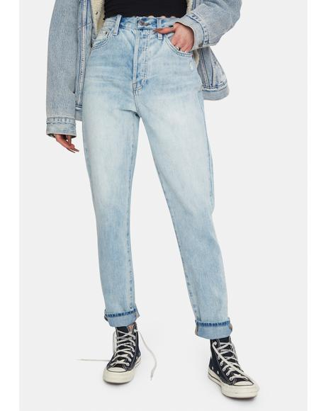 Keaton High Rise Slim Straight Denim Jeans