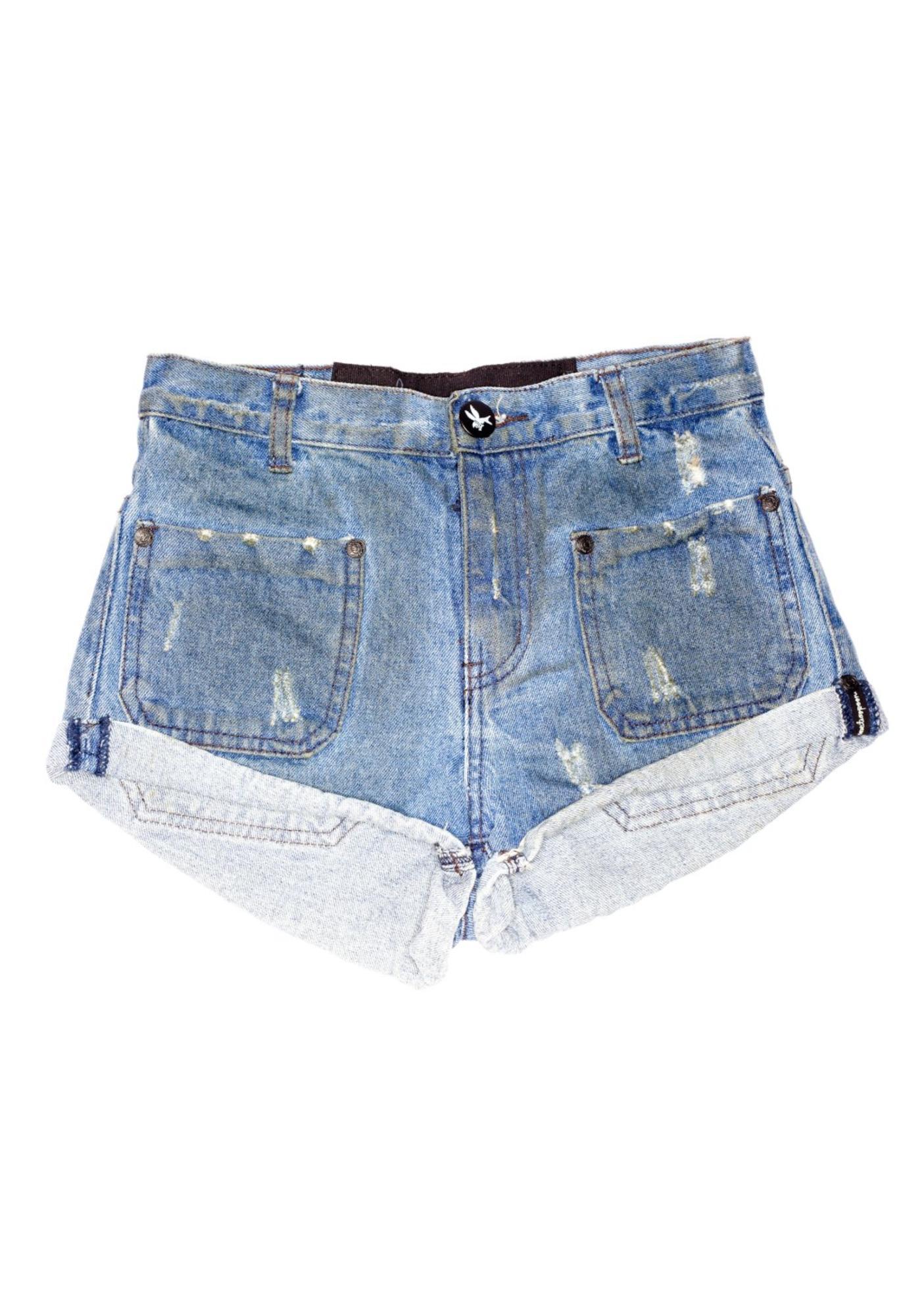 One Teaspoon Sailors Denim Shorts