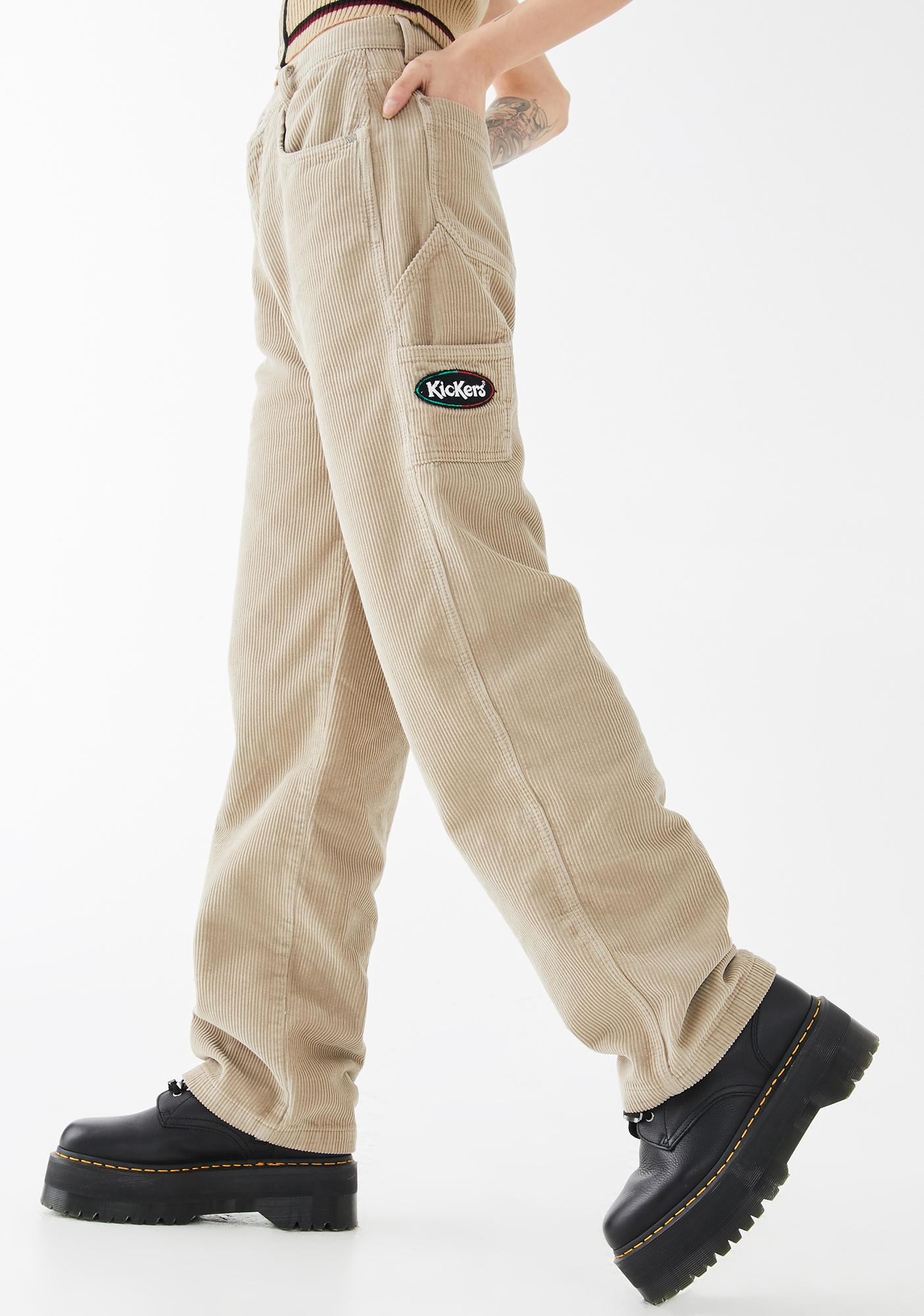 Kickers Straight Leg Corduroy Trousers