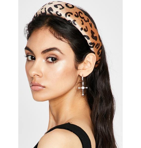 Glowin' Fierce Facts Leopard Headband