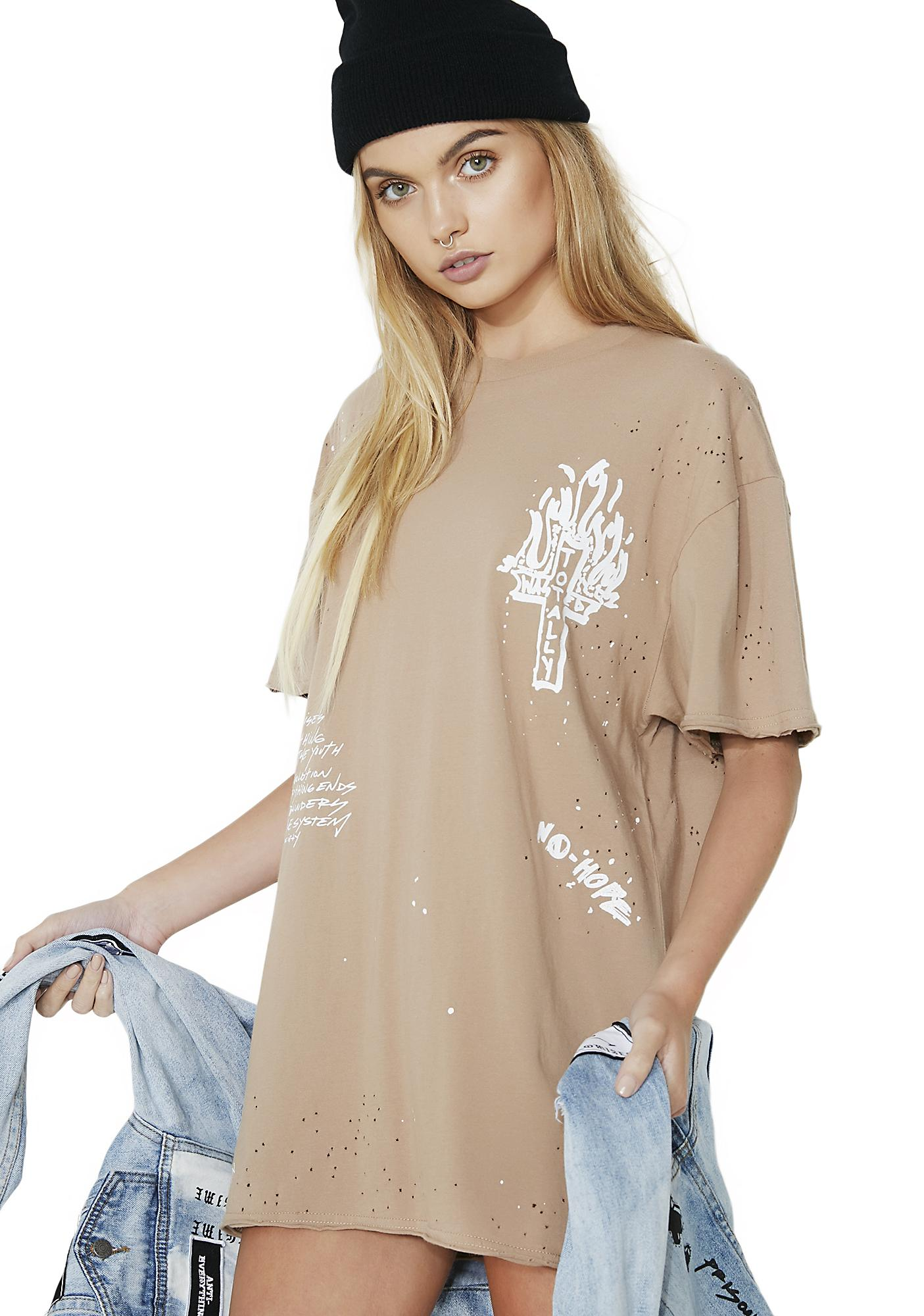 Civil Clothing McKaye Wasted Oversized Tee