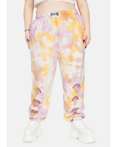 Curve Strawberry Tie Dye Sweatpants