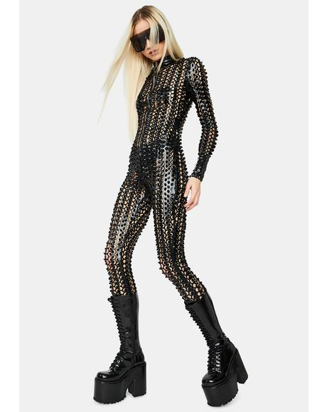 Laser Focus Textured Jumpsuit