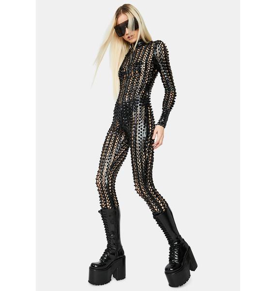 Laser Focus Textured Jumpsuit