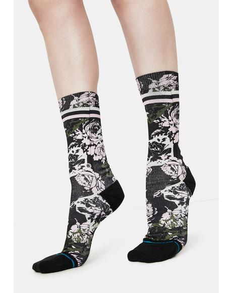 La Vie En Rose Crew Socks