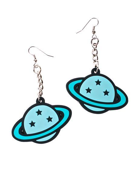 Planet Dangle Earrings