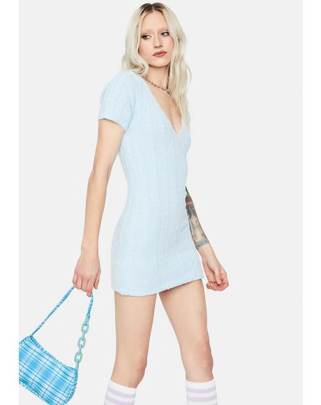 Love This Feeling Fuzzy Knit Mini Dress