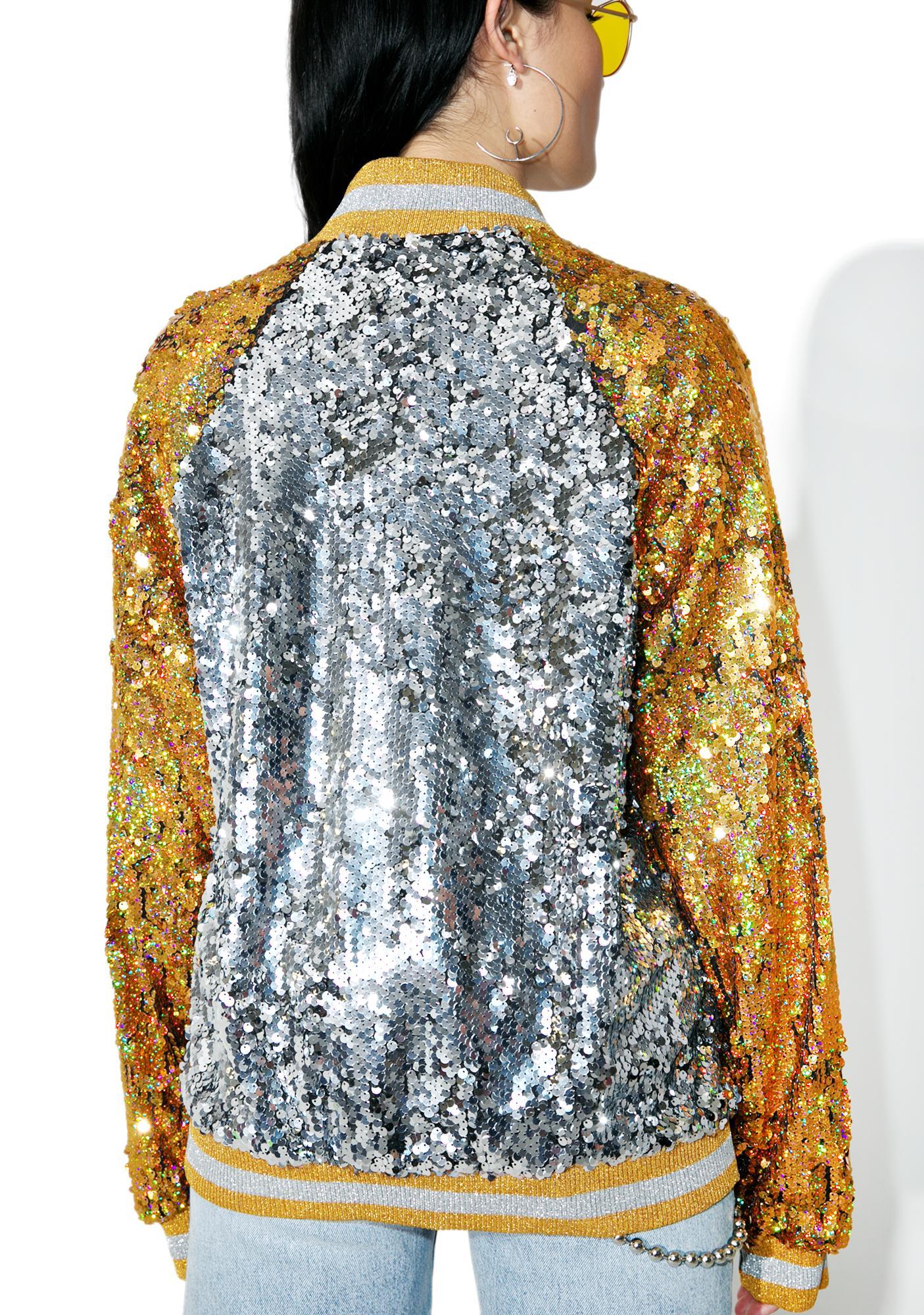 Jaded London Souvenir Sequin Bomber Jacket