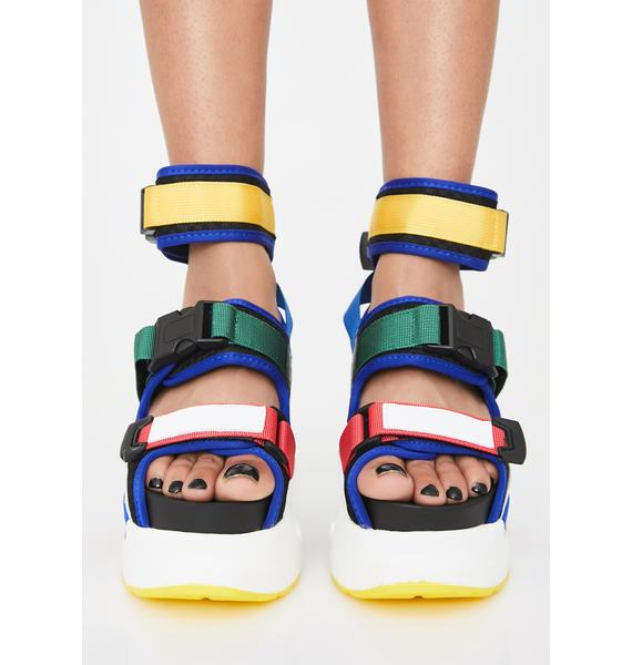 Anthony Wang Brilliant Daily Hustle Platform Sandals