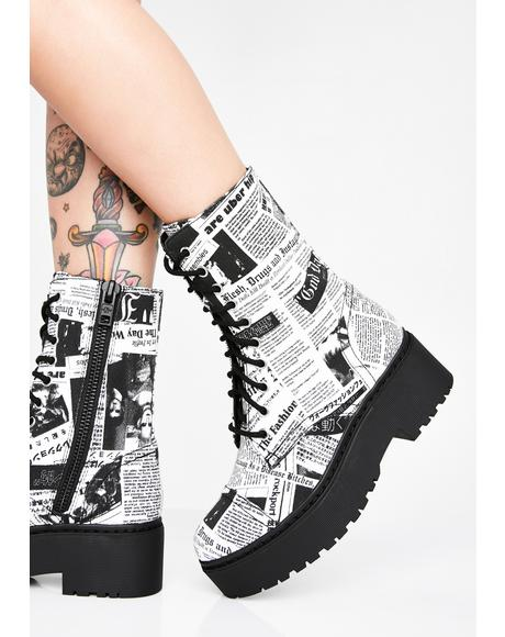 Breaking News Combat Boots