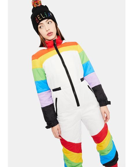 Sweet Retreat Rainbow Puffer Snowsuit