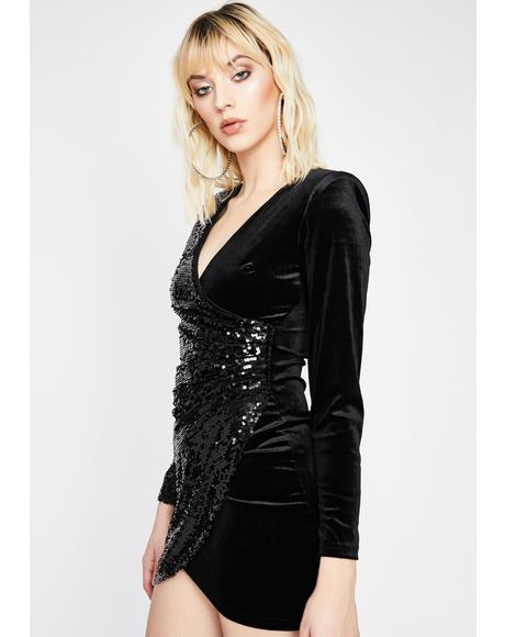 Dark Game Of Chance Velvet Dress