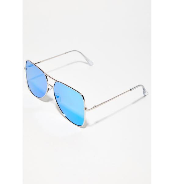 Stay Blocked Square Aviator Sunglasses