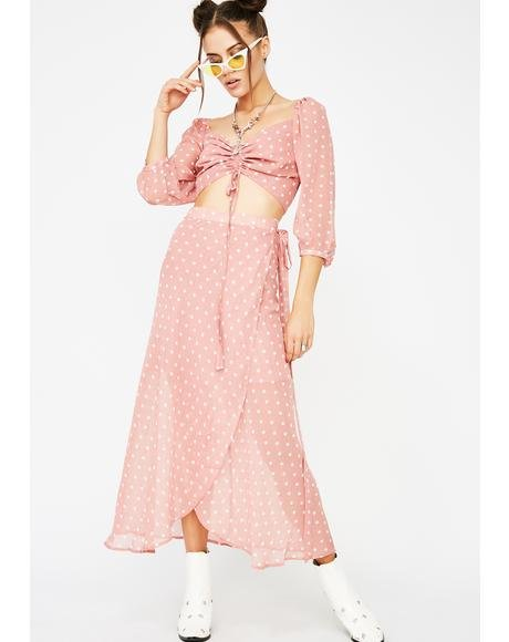 Pretty In Pink Polka Dot Skirt