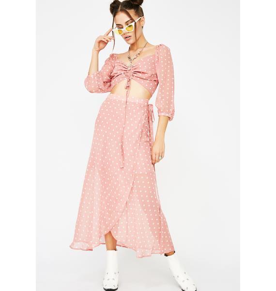 Pretty In Pink Polka Dot Skirt