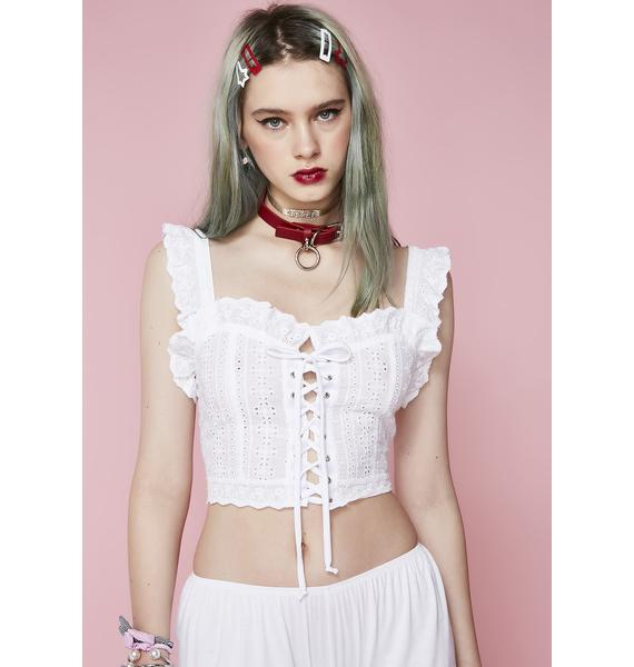 Sugar Thrillz Pure Innocence Crop Top