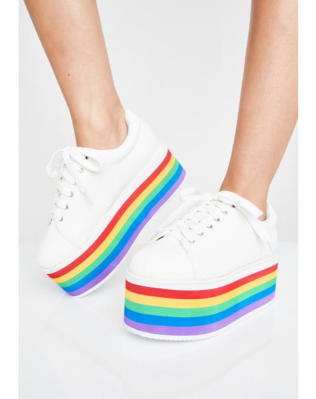 Pure Taste My Rainbow Platform Sneakers