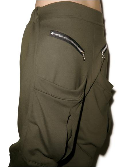 Pack Leader Pocketed Drop Crotch Pants