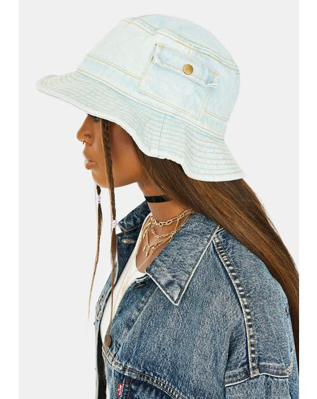 Hidden Stash Denim Bucket Hat