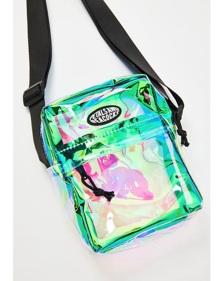 Clear Iridescent Shoulder Bag