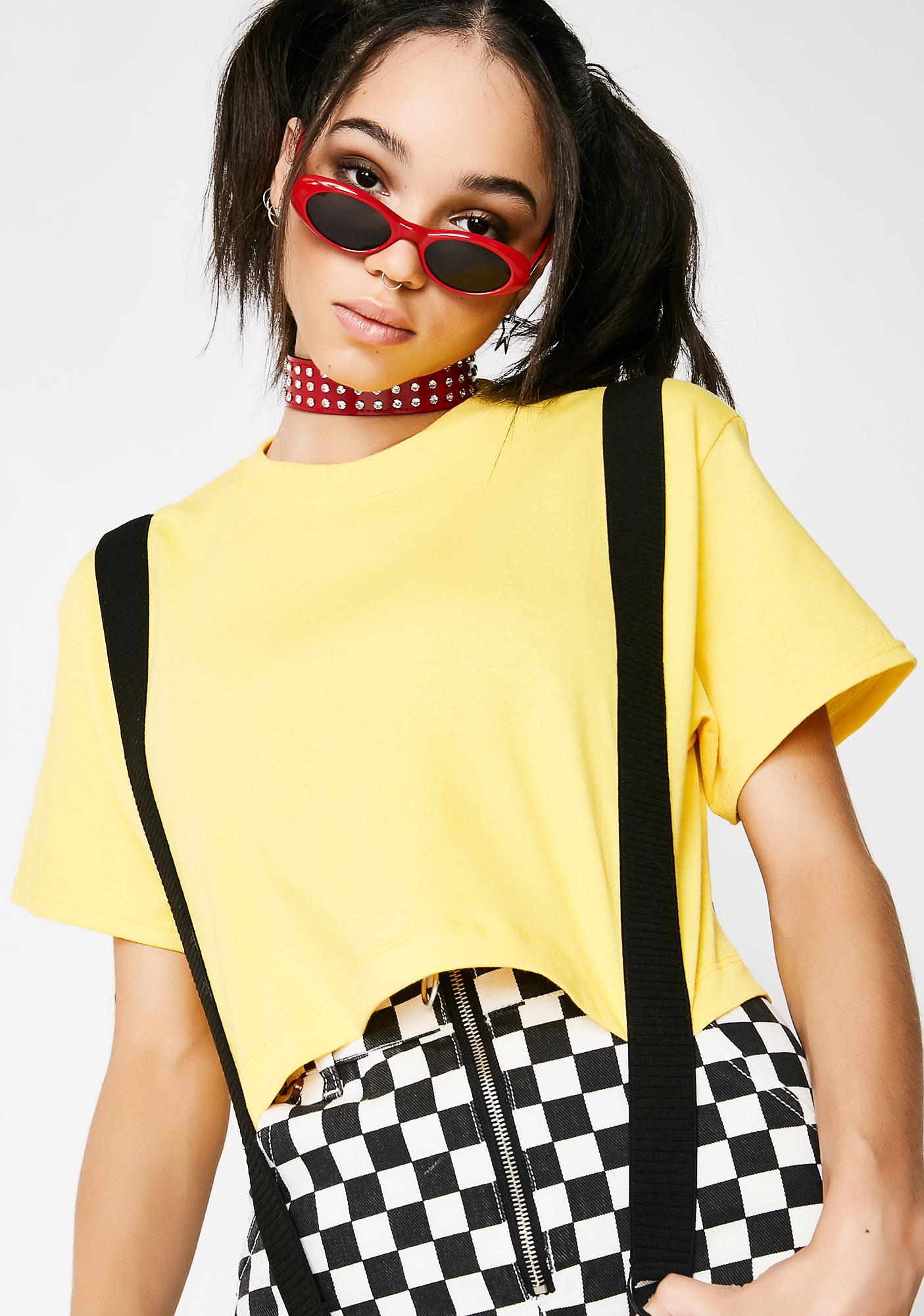 Untitled & Co No Logo Bucky Crop Top