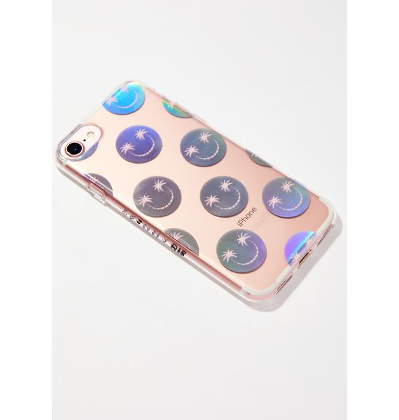 Skinnydip Palm Smiley iPhone Case