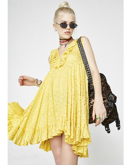 Lemonade Love Ruffle Dress