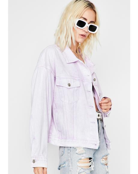 Lilac Show Off Oversized Jacket