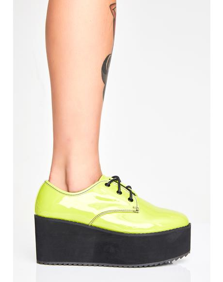 Slime Stomp Lo Platform Oxfords