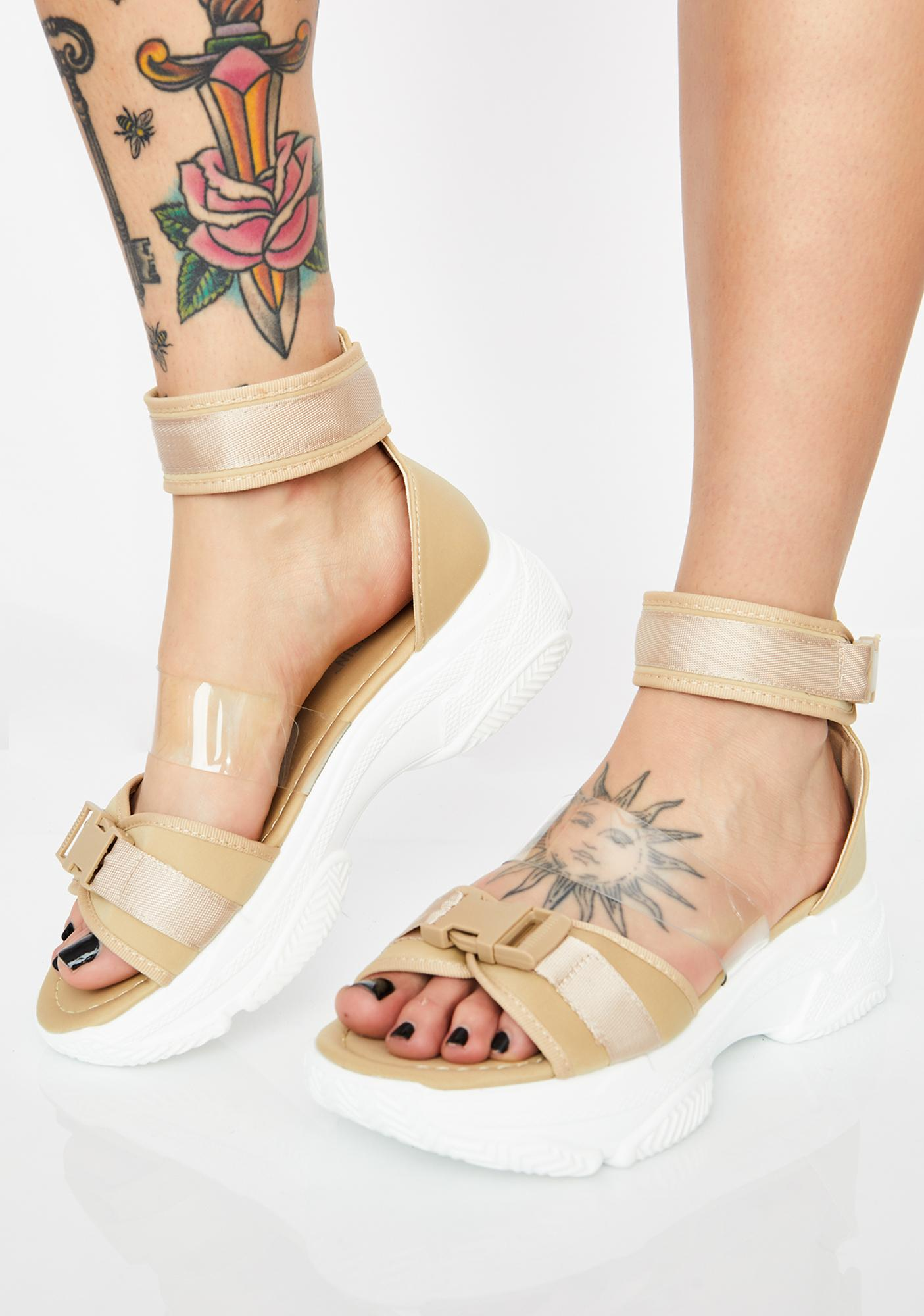 2d824db3b10201 Ankle Strap Sporty Platform Sandals